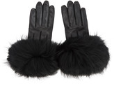 Mackage Black Fur Witty Gloves