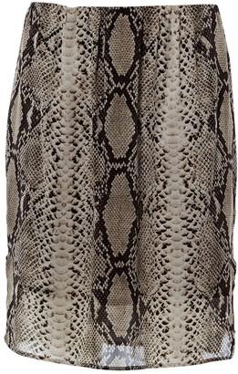 Lanvin Grey Silk Skirt for Women