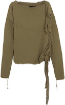 Vivienne Westwood Balloon Frayed Crepe Blouse - Army green
