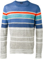 Diesel striped knit jumper - men - Linen/Flax/Polyester - S