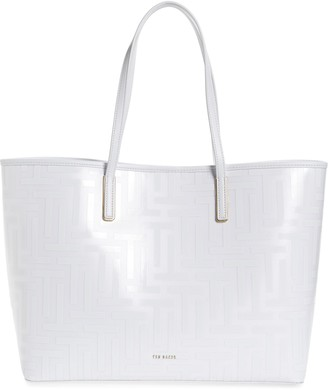 Ted Baker Elenoor T Logo Coated Twill Shopper
