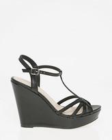 Le Château Leather-Like T-Strap Sandal
