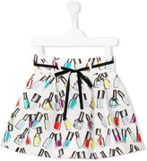 Simonetta nail polish print brocade skirt