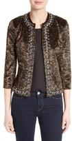 L'Agence Women's Chain Trim Faux Fur Jacket
