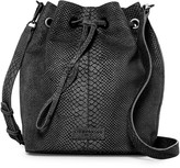 Liebeskind Berlin Loki Snake Embossed Leather Drawstring Bucket Bag