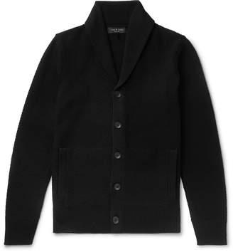 Rag & Bone Cardiff Shawl-Collar Merino Wool and Cotton-Blend Cardigan - Men - Black