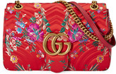 Gucci GG Marmont floral jacquard shoulder bag