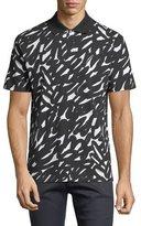 Versace Graffiti-Print Polo Shirt
