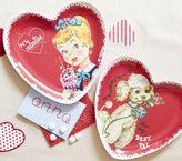 Pottery Barn Kids Girl Valentine's Day Plates