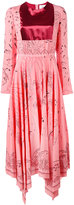 Valentino Swallow Metamorphosis dress - women - Silk - 42
