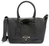 Valentino Garavani Demilune Top Handle Leather Satchel - Black