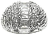 Judith Ripka Sterling Channel-Set Baguette Dome