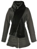 Rene Derhy Padded Coat with Long Faux Fur Collar