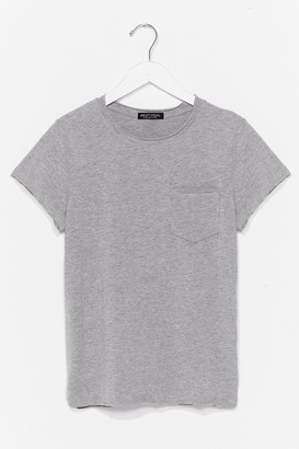 Nasty Gal Womens Pocket It Up Pocket It in Relaxed Tee - Black - XS