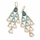 Ippolita 18k Gemma Cascade Topaz & Quartz Chandelier Earrings