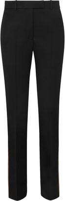 Calvin Klein Striped Wool-twill Straight-leg Pants