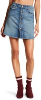 Mother The Snap Down Flared Mini Skirt