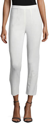 Misook Plus Size Slim Cropped Ankle Pants, White
