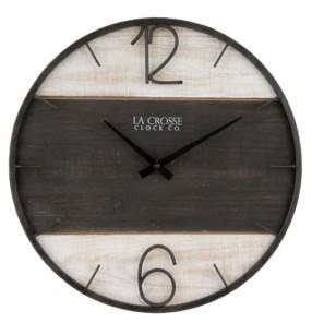 "La Crosse Technology La Crosse Clock 16"" Ironwood Wall Clock"