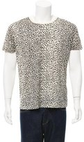 Saint Laurent Babycat Print Scoop Neck T-Shirt w/ Tags