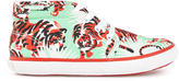 Kenzo Printed canvas trainers