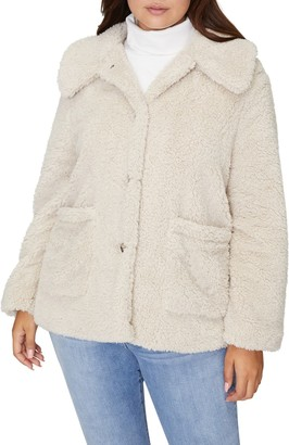 Sanctuary Faux Fur Teddy Coat (Plus Size)