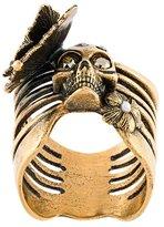 Alexander McQueen butterfly skull ring