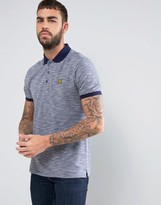 Lyle & Scott Pique Polo Contrast Trims Regular Fit Eagle Logo in Navy