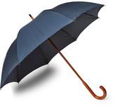 London Undercover Maple Wood-handle Printed Twill Umbrella - Blue