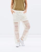 Maison Scotch Embroidered Mesh Beach Pants