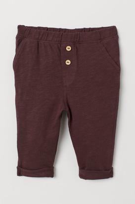 H&M Slub Jersey Pants - Pink