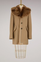 Marc Jacobs Fur and wool coat