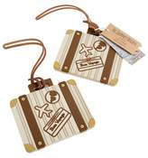 "Kate Aspen 12ct Let the Journey Begin"" Vintage Suitcase Luggage Tag"