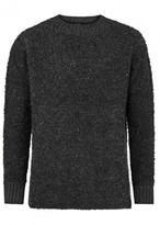 Blood Brother Founder Charcoal Bouclé Jumper