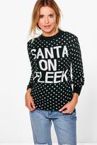 Boohoo Emma Santa on Fleek Christmas Jumper bottle