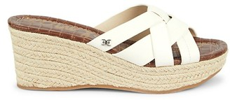 Sam Edelman Romona Leather Espadrille Platform Wedge Sandals