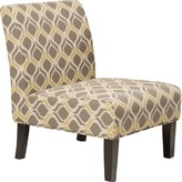 Bentley Slipper Chair Ebern Designs Fabric: Yellow and gray Polyester Blend