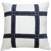 BANDHINI Linen Grid Navy Lounge Cushion