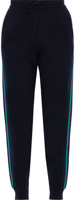 Chinti and Parker Ringmaster Striped Wool And Cashmere-blend Track Pants