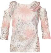 Izabel London Floral Dream Net Overlay Jumper