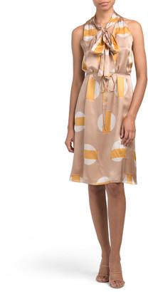 Glass Printed Silk Dress