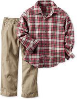 Carter's 2-Pc. Plaid Shirt & Khakis Set, Baby Boys (0-24 months)