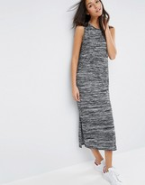 Asos Maxi Dress In Space Dye With Drape Detail