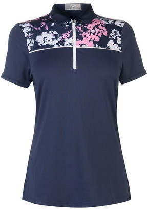 Callaway Short Sleeve Floral Polo Shirt Ladies