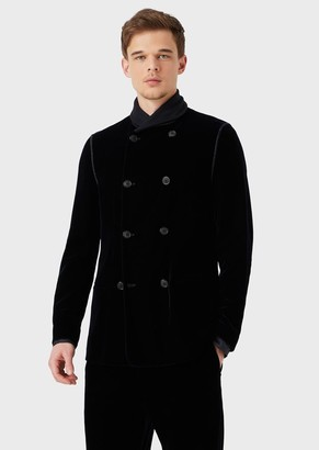 Giorgio Armani Velvet, Double-Breasted Jacket From The Beckham Line