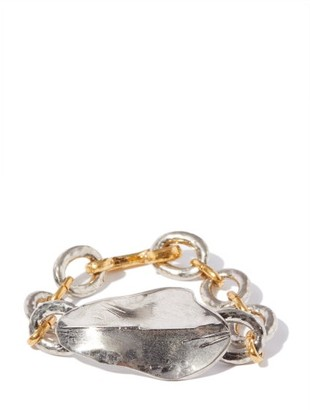 Marni Hammered Mixed-metal Bracelet - Silver Gold