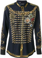 Dolce & Gabbana military jacket print shirt