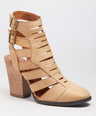 Free People Women's Casual boots KHAKI - Khaki Hayes Heel Leather Boot - Women