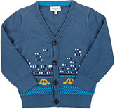 Paul Smith Intarsia-Knit Cardigan-BLUE
