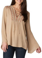Democracy Embroidered Peasant Top